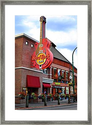 Gatlinburg Hard Rock Cafe Framed Print by Frozen in Time Fine Art Photography