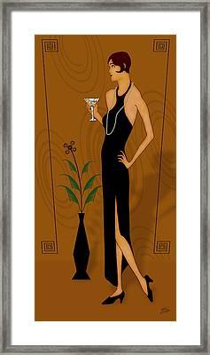 Gatsby Girl Framed Print by Troy Brown