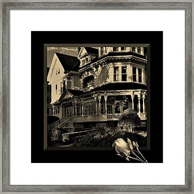 Gatsby Mansion Framed Print by Barbara St Jean