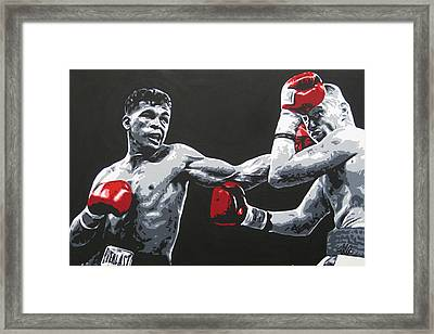Gatti Vs Ward Framed Print by Geo Thomson