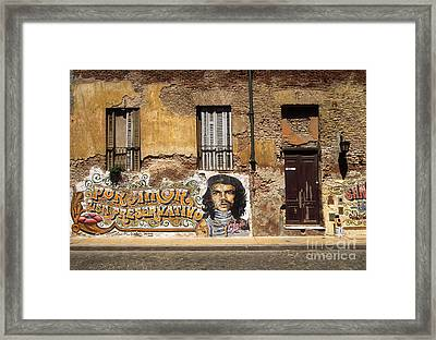 Gaucho Che Promotes Contraception Framed Print by James Brunker