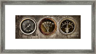 Gauges  Framed Print by Olivier Le Queinec