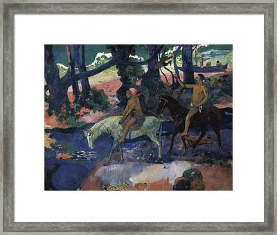 Gauguin, Paul 1848-1903. Ford Running Framed Print by Everett