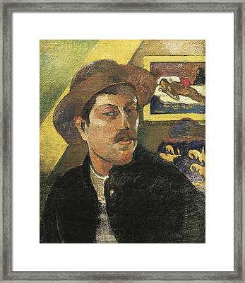 Gauguin, Paul 1848-1903. Self Portrait Framed Print by Everett