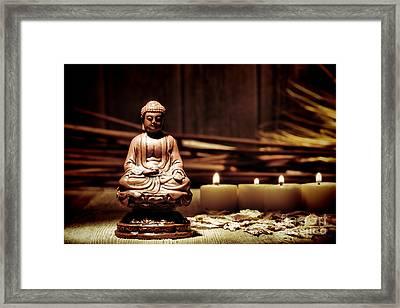 Gautama Buddha Framed Print by Olivier Le Queinec
