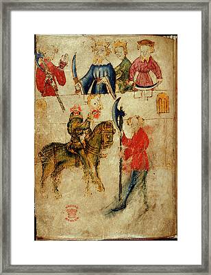 Gawain And The Green Knight Framed Print by British Library