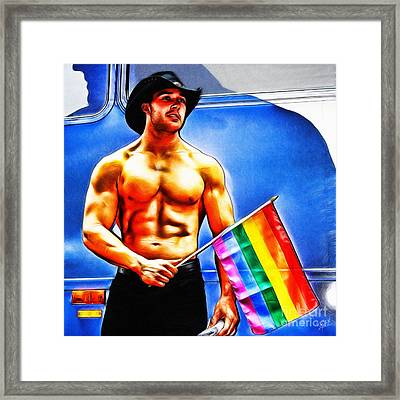 Gay Pride Framed Print by Nishanth Gopinathan