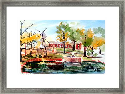 Gazebo Pond And Duck II Framed Print by Kip DeVore