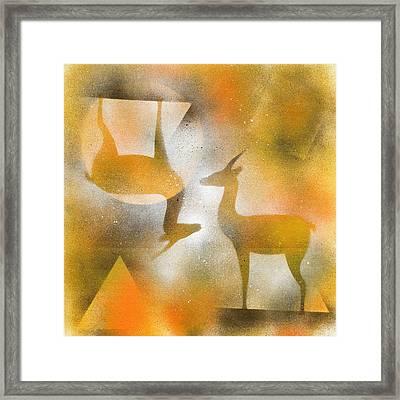 Gazelles Framed Print by Hakon Soreide
