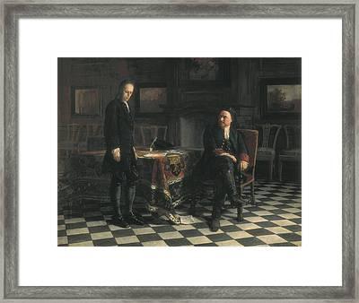Ge, Nikolai Nikolaevich 1831-1894 Framed Print by Everett