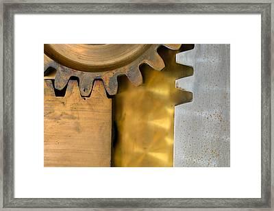 Gear Abstract Framed Print by Bill Mock