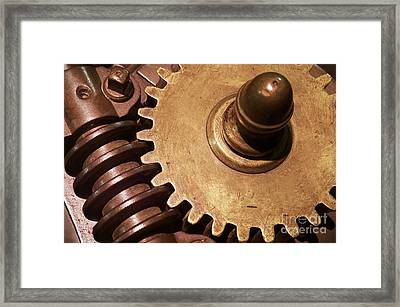 Gear Wheels Framed Print by Carlos Caetano