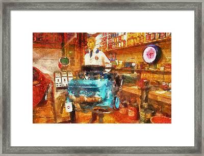Gearhead Workshop Photo Art Framed Print by Thomas Woolworth