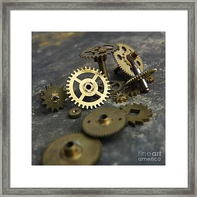 Gears Framed Print by Bernard Jaubert