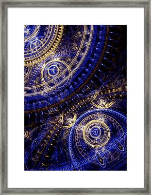 Gears Of Time Framed Print by Martin Capek