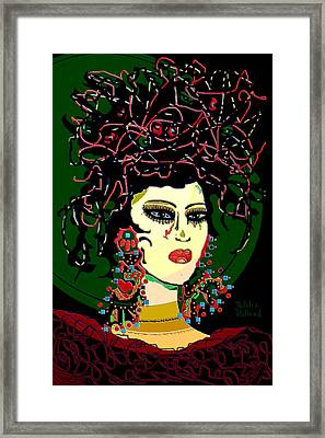 Geisha 6 Framed Print by Natalie Holland