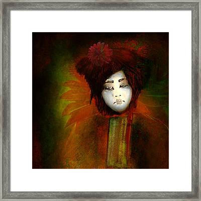 Geisha5 - Geisha Series Framed Print by Jeff Burgess