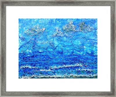 Gelid Seascape Revised Framed Print by Regina Valluzzi
