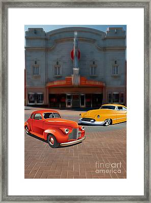 Gem Theater - Kansas City Missouri  Framed Print by Liane Wright