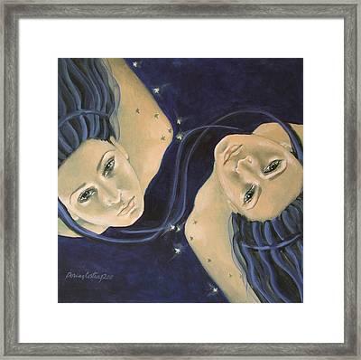 Gemini From Zodiac Series Framed Print by Dorina  Costras