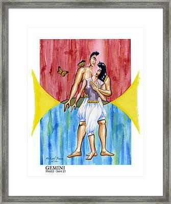 Gemini Framed Print by Michael Baum