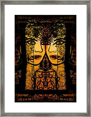 Gemini Twins Framed Print by Natalie Holland