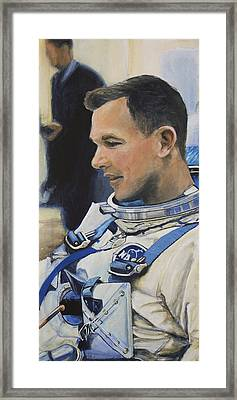 Gemini Viii Dave Scott Framed Print by Simon Kregar