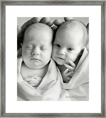 Gemma And Amelia Rose Framed Print by Anne Geddes