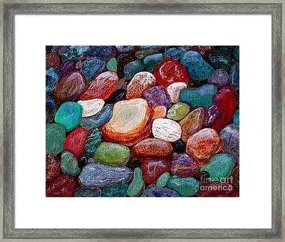 Gemstones Framed Print by Barbara Griffin