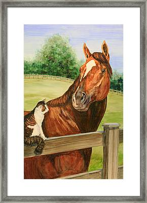 General Charlie And Whirlaway The Cat Portrait Framed Print by Kristine Plum