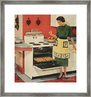 General Electric 1950s Usa  Ovens Framed Print by The Advertising Archives
