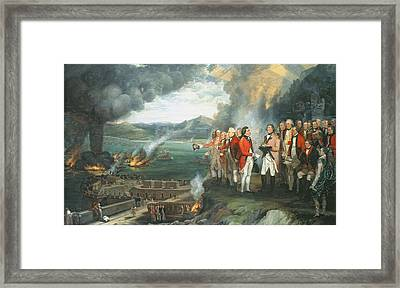 General Eliott And His Officers Framed Print by George Carter