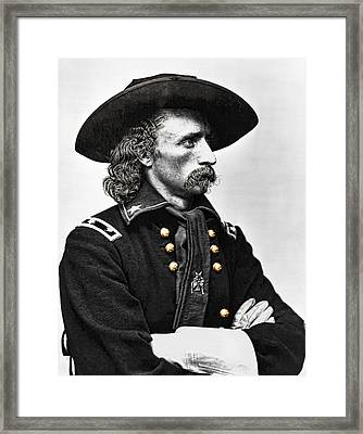 General George Armstrong Custer  Framed Print by Daniel Hagerman