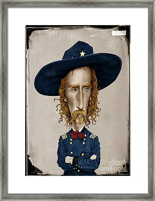 General George Custer Framed Print by Andre Koekemoer