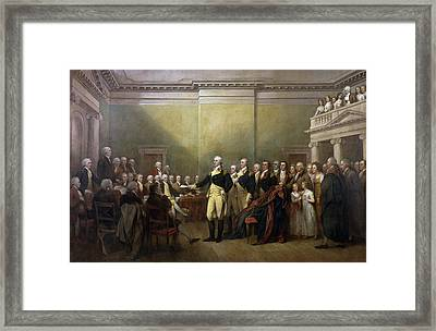 General George Washington Resigning His Commission Framed Print by John Trumbull