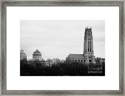 General Grant National Memorial And Riverside Church Riverside Park New York City Framed Print by Joe Fox