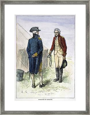 General John Burgoyne Framed Print by Granger