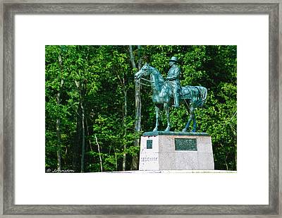 General John Sedgewick Gettysburg Battleground Framed Print by Bob and Nadine Johnston