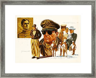 General Macarthur Framed Print by Dick Bobnick