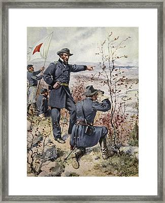 General Sherman At Kenesaw Mountain Framed Print by Henry Alexander Ogden