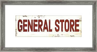 General Store Framed Print by Jennifer Pugh
