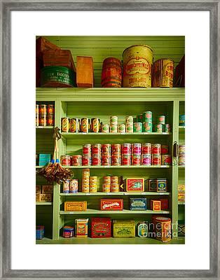General Store Merchandise Framed Print by Inge Johnsson