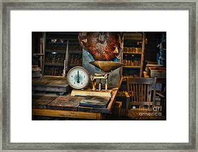 General Store Scale Framed Print by Paul Ward