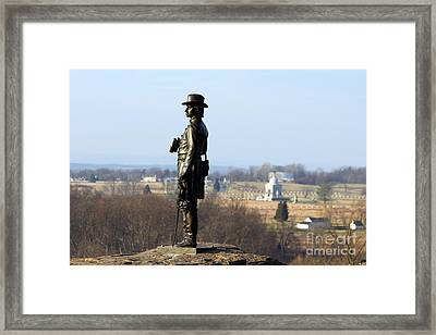 General Warren At Little Round Top Gettysburg  1291 Framed Print by Jack Schultz