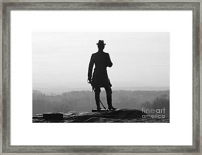 General Warren Overlooking Gettysburg Battlefield  1295 Framed Print by Jack Schultz