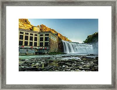Genesee River Waterfall 2 Framed Print by Tim Buisman