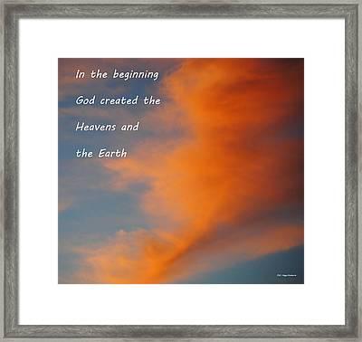 Genesis Framed Print by DiDi Higginbotham