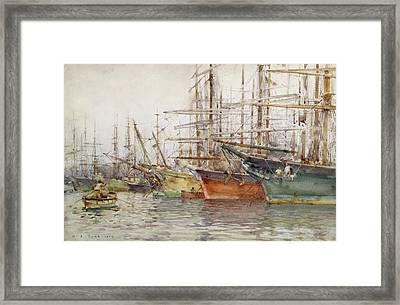 Genoa Harbour, 1904 Framed Print by Henry Scott Tuke