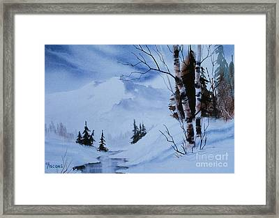 Gentle Mountains Framed Print by Teresa Ascone