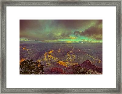Gentle Sunrise Over The Canyon Framed Print by Lisa  Spencer